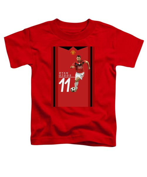 Ryan Giggs Toddler T-Shirt by Semih Yurdabak