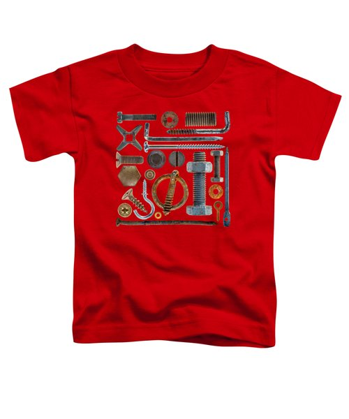 Screws, Nuts Bolts And Hooks On Transparent Background Toddler T-Shirt