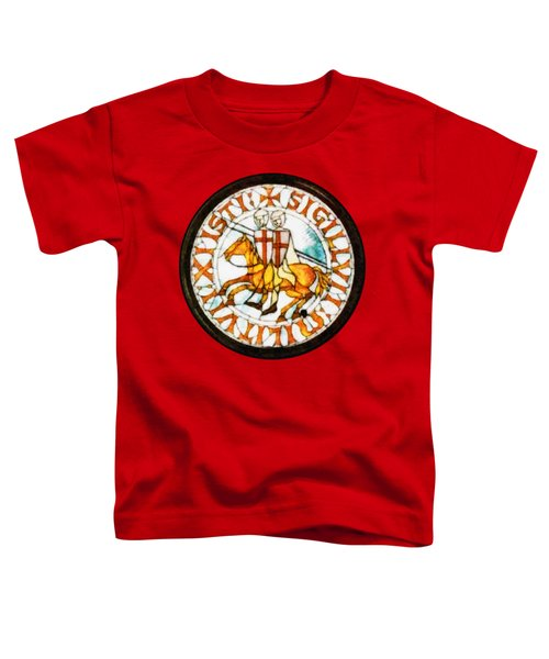 Seal Of The Knights Templar Toddler T-Shirt by John Springfield