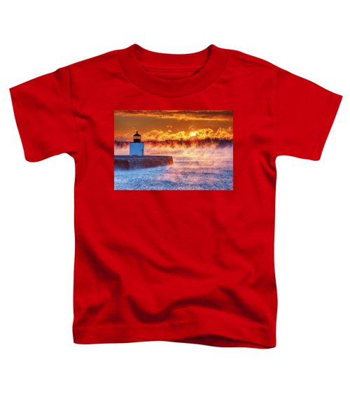 Seasmoke At Salem Lighthouse Toddler T-Shirt