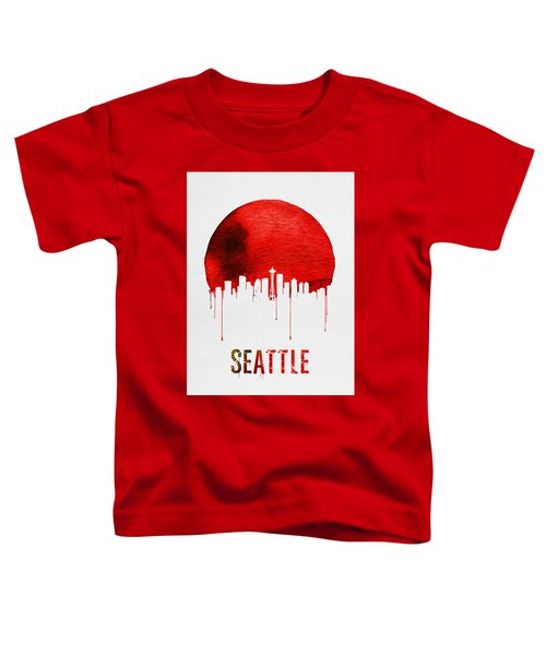 Seattle Skyline Red Toddler T-Shirt