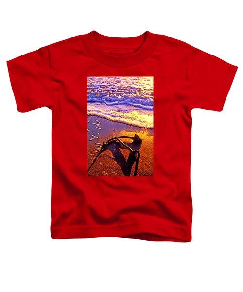 Ships Anchor On Beach Toddler T-Shirt
