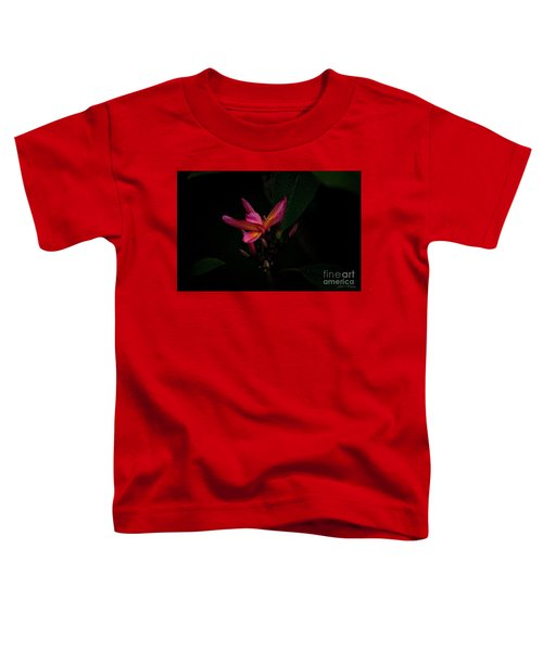 Single Red Plumeria Bloom Toddler T-Shirt