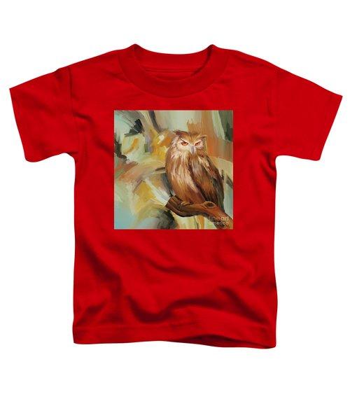 Sitting Owl Toddler T-Shirt