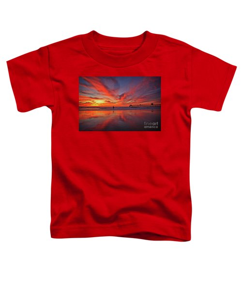 Sky On Fire At The Imperial Beach Pier Toddler T-Shirt