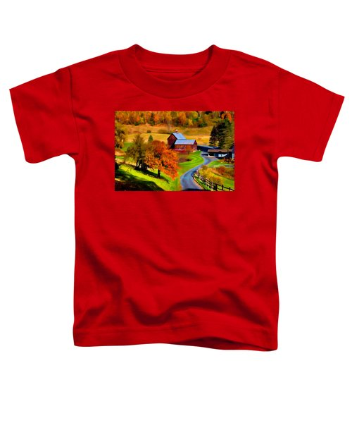 Digital Painting Of Sleepy Hollow Farm Toddler T-Shirt