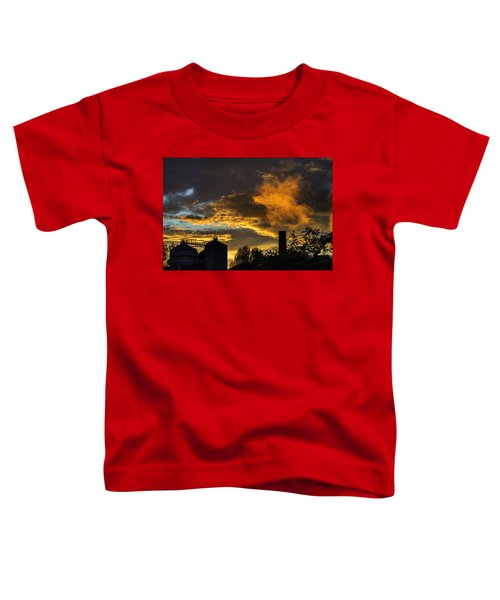 Toddler T-Shirt featuring the photograph Smoky Sunset by Jeremy Lavender Photography