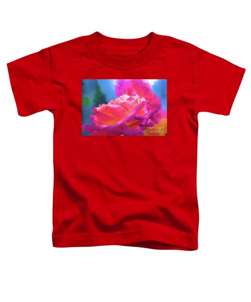 Soft Rose Bloom In Red And Purple Toddler T-Shirt