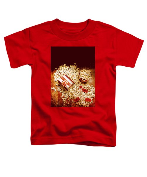 Spilt Tubs Of Popcorn And Movie Tickets Toddler T-Shirt