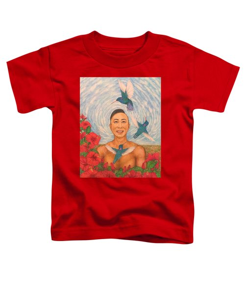 Spring Amazed By The Hummingbirds Toddler T-Shirt by Kent Chua