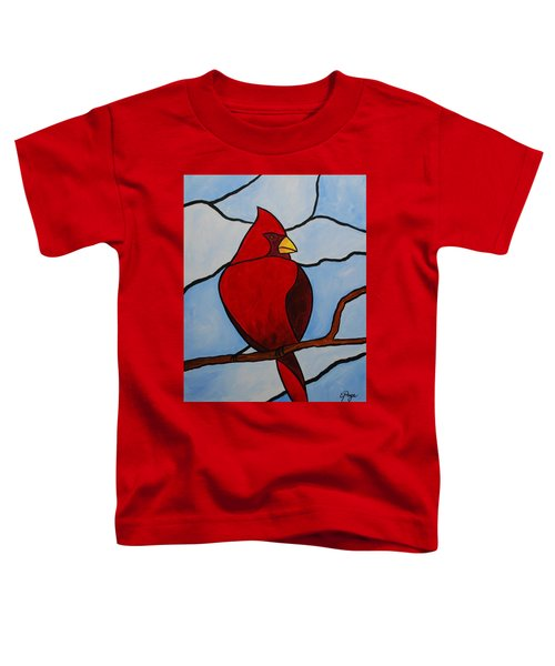 Stained Glass Cardinal Toddler T-Shirt