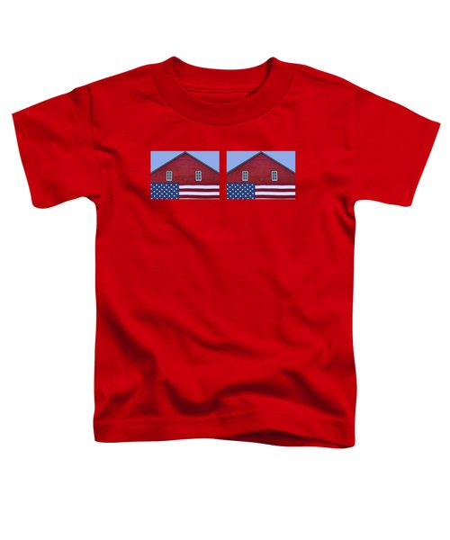 Stars And Stripes - Rural Abstract - 2 - Mug Toddler T-Shirt