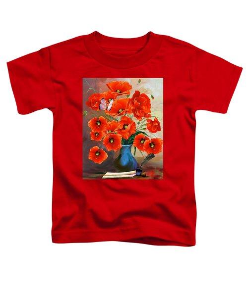 Still Life Poppies Toddler T-Shirt