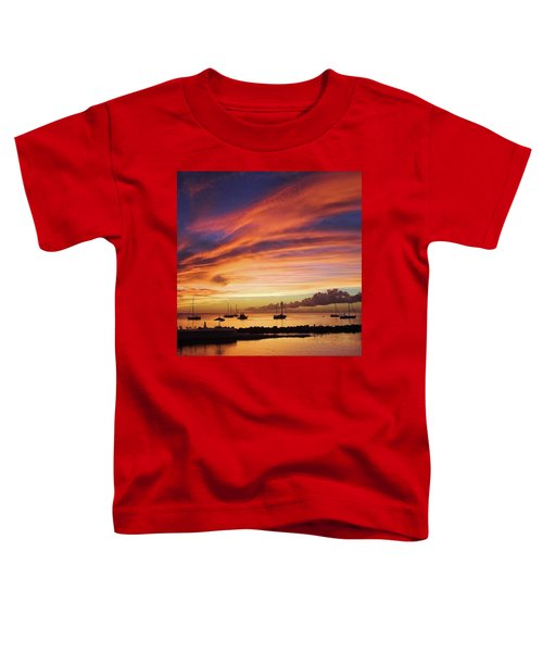 Store Bay, Tobago At Sunset #view Toddler T-Shirt