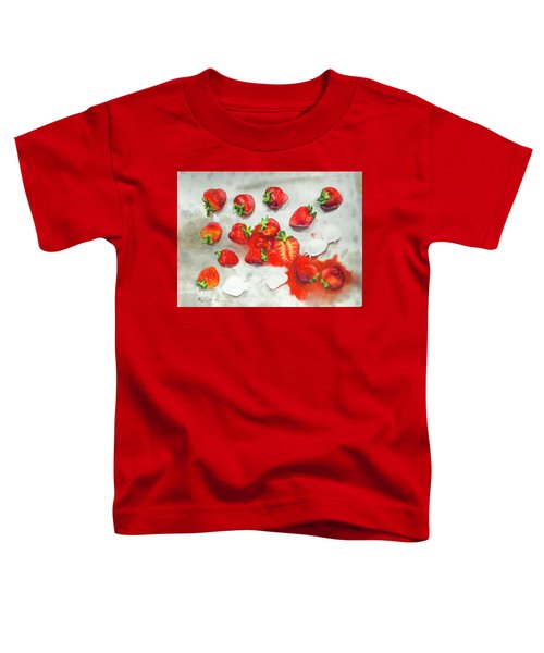 Strawberries On Paper Towel Toddler T-Shirt