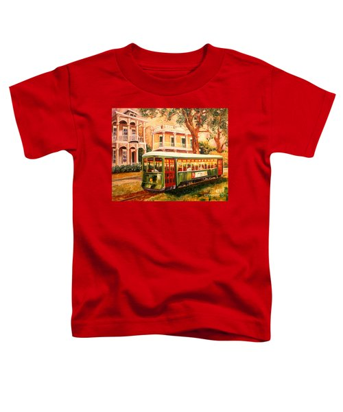 Streetcar In The Garden District Toddler T-Shirt