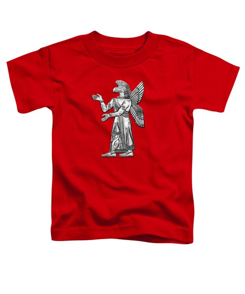 Sumerian Deities - Silver God Ninurta Over Red Canvas Toddler T-Shirt
