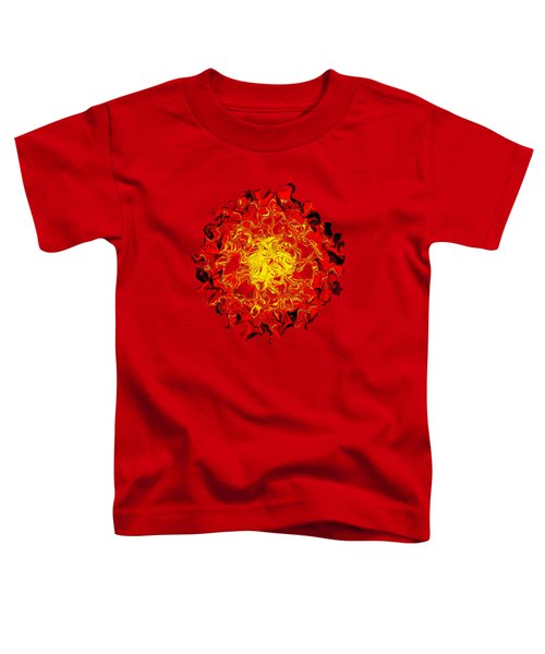Sun Abstract Art By Kaye Menner Toddler T-Shirt by Kaye Menner