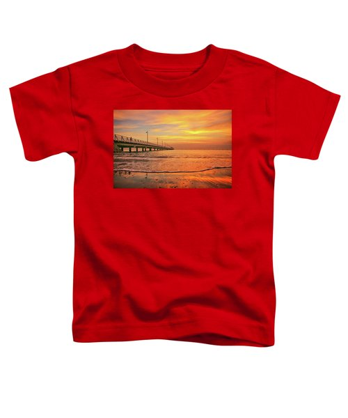 Sunrise Delight On The Beach At Shorncliffe Toddler T-Shirt