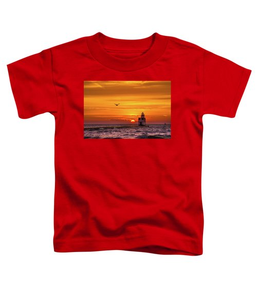 Toddler T-Shirt featuring the photograph Sunrise Solo by Bill Pevlor