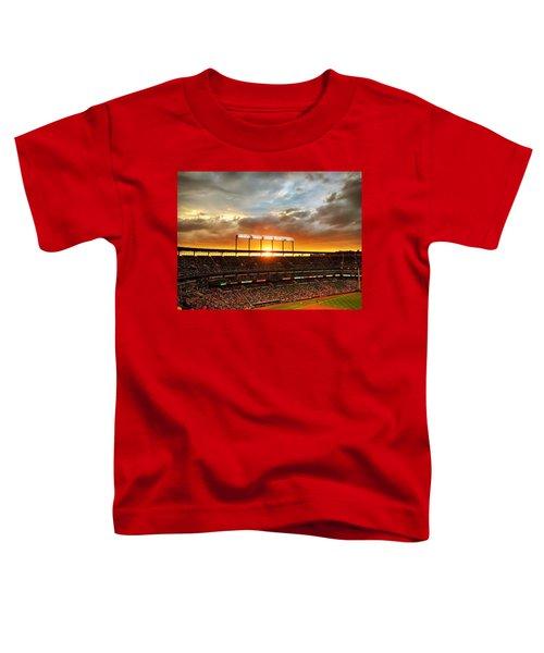 Sunset At Camden Yards Toddler T-Shirt