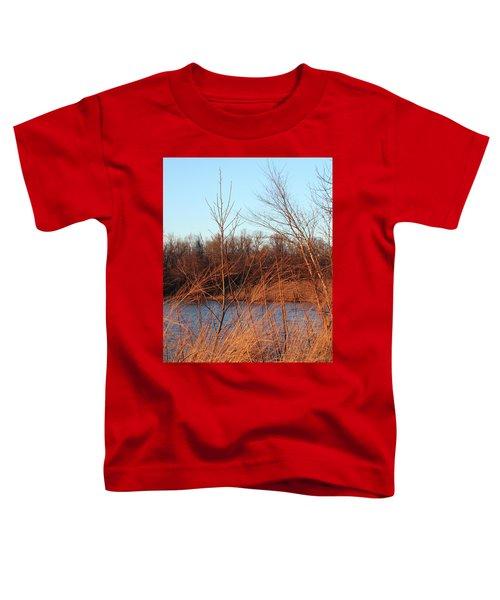 Sunset Field Over Water Toddler T-Shirt