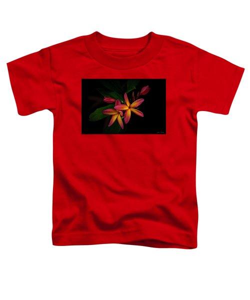 Sunset Plumerias In Bloom #2 Toddler T-Shirt