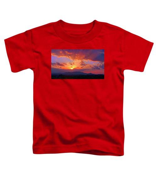 Sunset Rays At Smith Mountain Lake Toddler T-Shirt