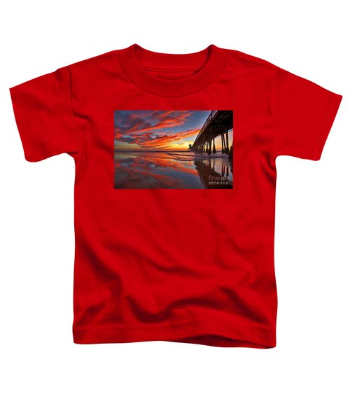 Sunset Reflections At The Imperial Beach Pier Toddler T-Shirt
