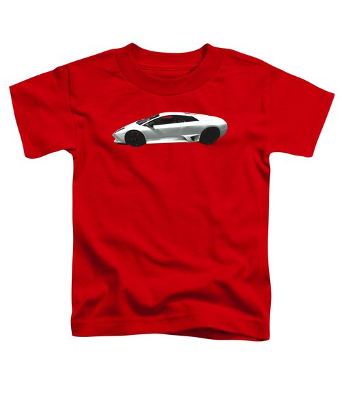 Supercar In White Art Toddler T-Shirt