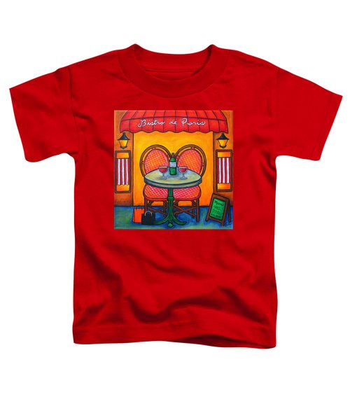 Table For Two In Paris Toddler T-Shirt