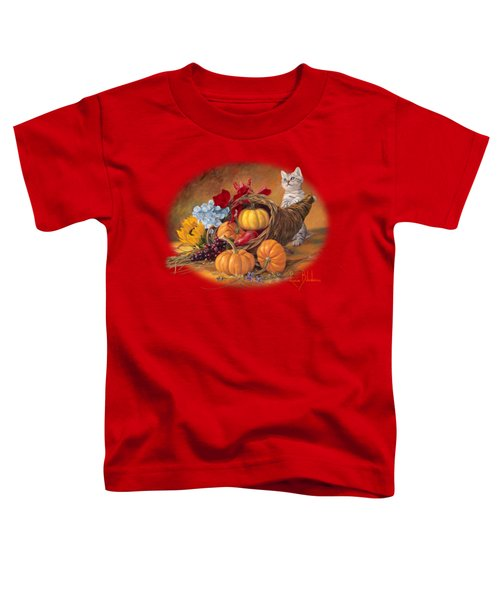 Thankful Toddler T-Shirt by Lucie Bilodeau