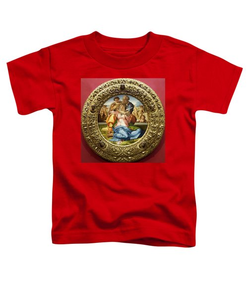 The Holy Family - Doni Tondo - Michelangelo - Round Canvas Version Toddler T-Shirt