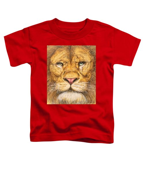 The Lion Roar Of Freedom Toddler T-Shirt by Kent Chua