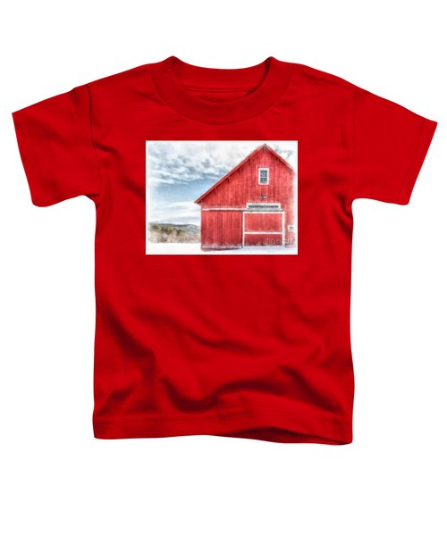 The Old Red Barn Newport New Hampshire Watercolor Toddler T-Shirt