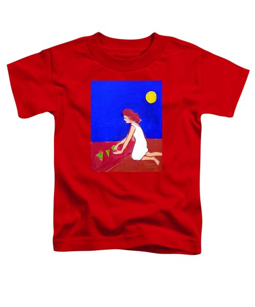 Toddler T-Shirt featuring the painting The Planting by Winsome Gunning