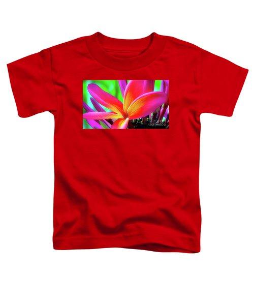 The Plumeria Flower Toddler T-Shirt