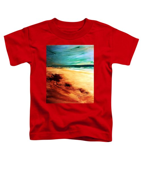 Toddler T-Shirt featuring the painting The Remaining Pine by Winsome Gunning