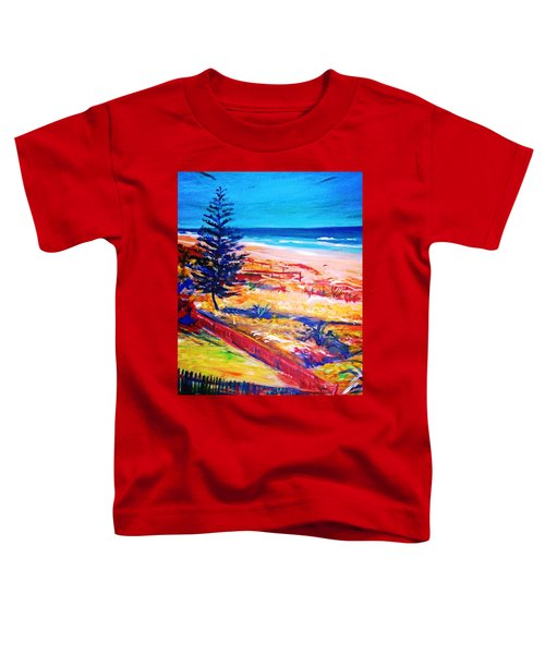 Toddler T-Shirt featuring the painting The Winter Dunes by Winsome Gunning