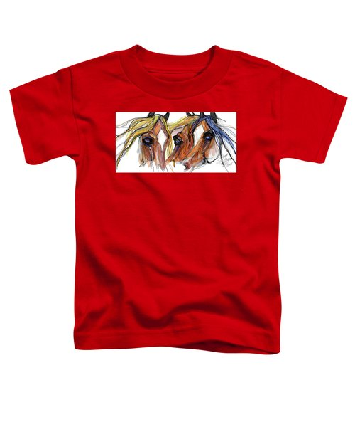 Three Horses Talking Toddler T-Shirt
