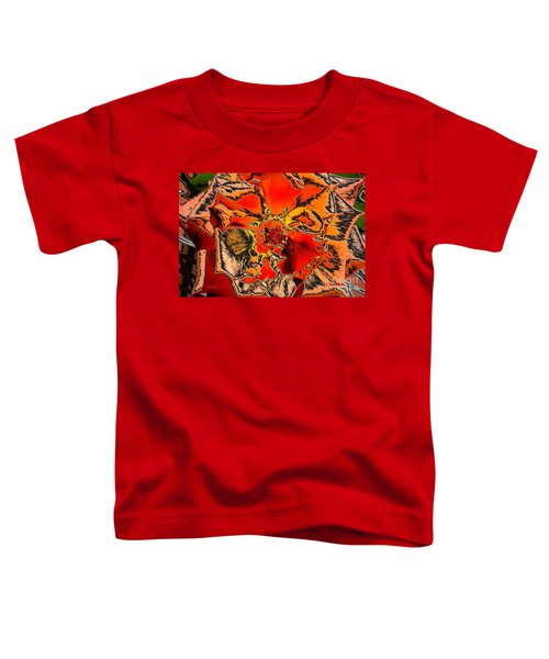 Tiger Rose Neon Toddler T-Shirt