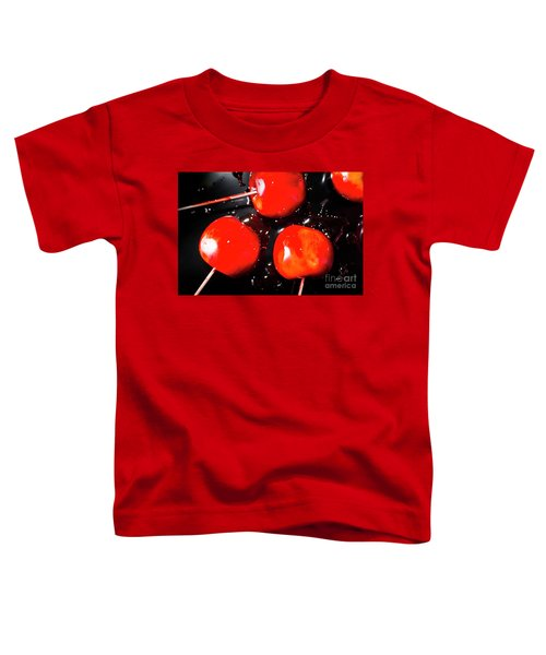 Toffee Apple Splash. Fine Art Food Toddler T-Shirt