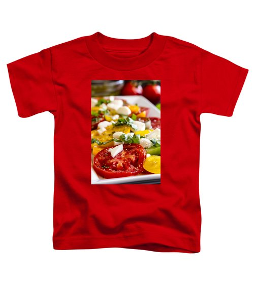 Tomatoes, Basil And Cheese Toddler T-Shirt