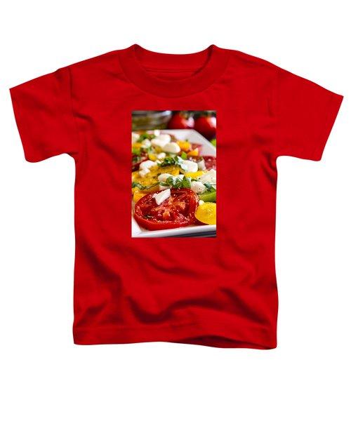 Tomatoes, Basil And Cheese Toddler T-Shirt