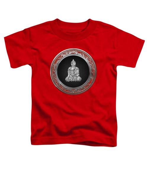 Treasure Trove - Silver Buddha On Red Velvet Toddler T-Shirt