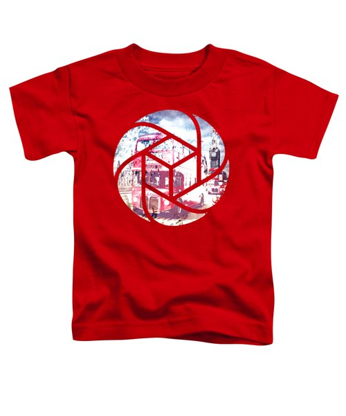 Trendy Design London Red Buses  Toddler T-Shirt by Melanie Viola