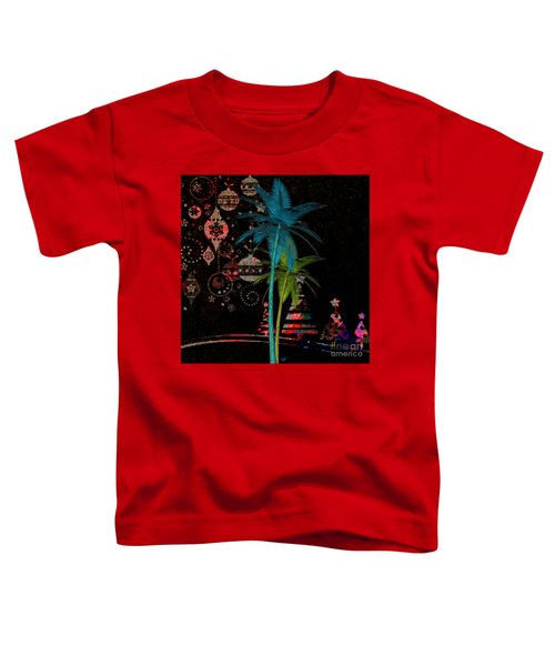 Tropical Holiday Red Toddler T-Shirt