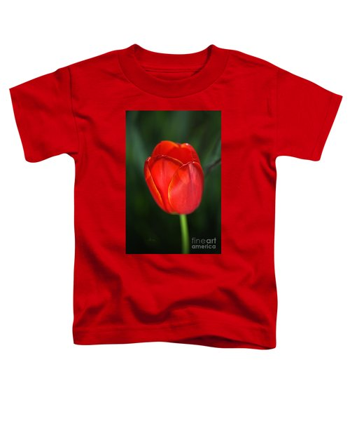 Tulip Red With A Hint Of Yellow Toddler T-Shirt
