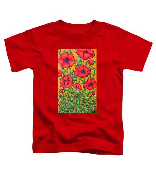 Tuscan Poppies - Crop 2 Toddler T-Shirt