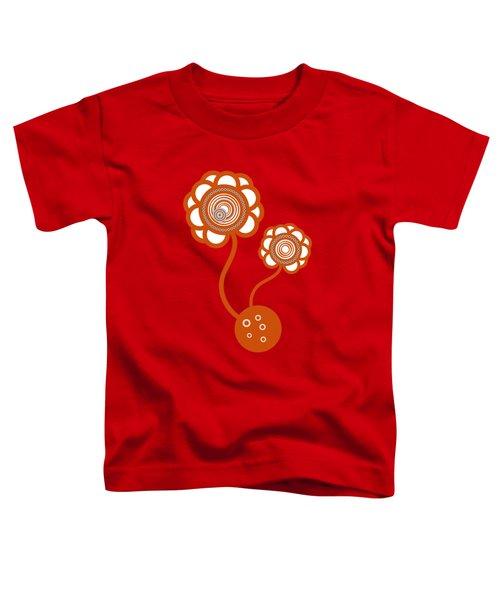 Two Orange Flowers Toddler T-Shirt